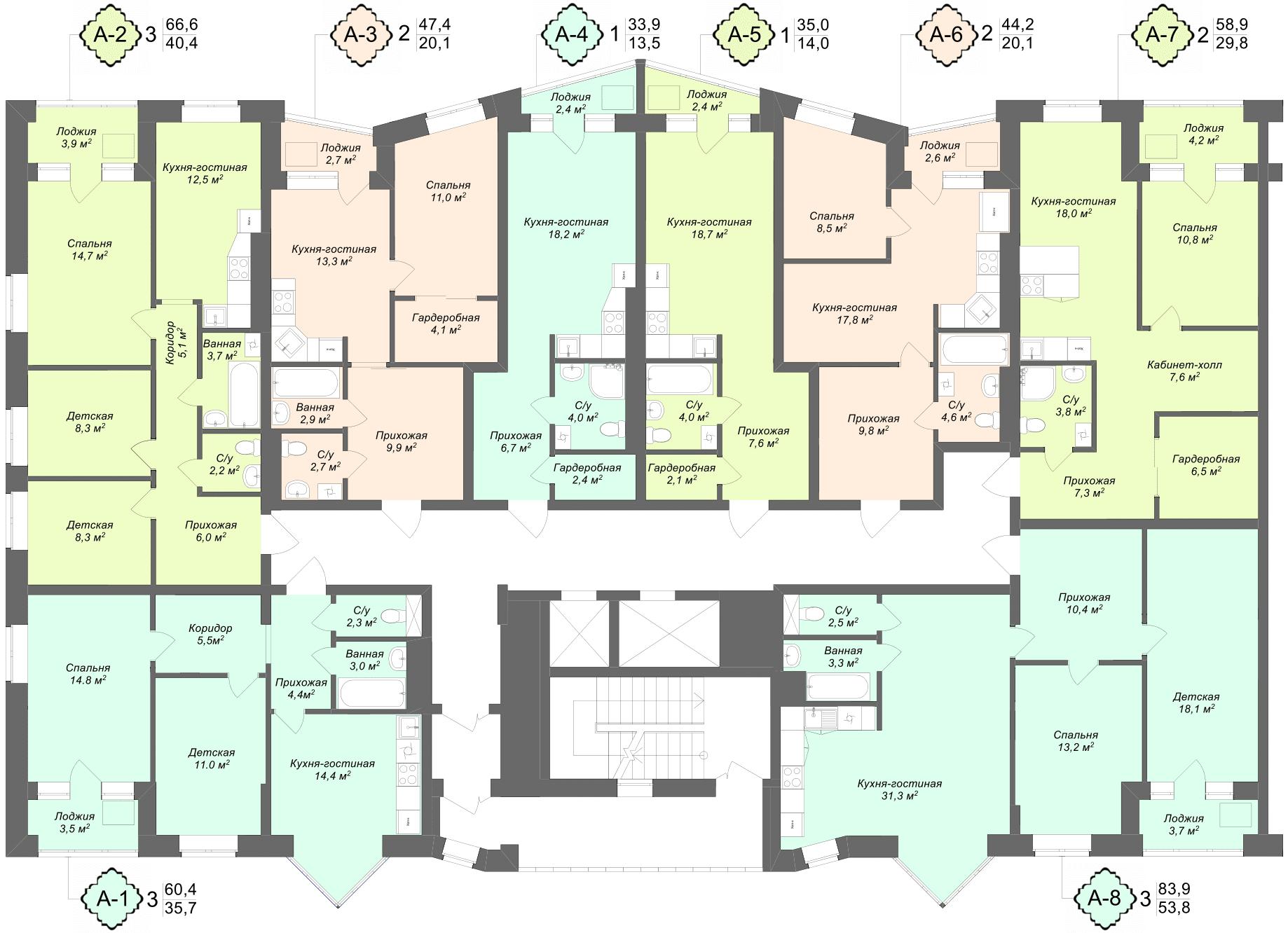 ДЛЯ УВЕЛИЧЕНИЯ НАЖМИТЕ НА СХЕМУ - Купить квартиру от Застройщика в новостройке в Твери 1 комнатную 2 х комнатную 3 х комнатную
